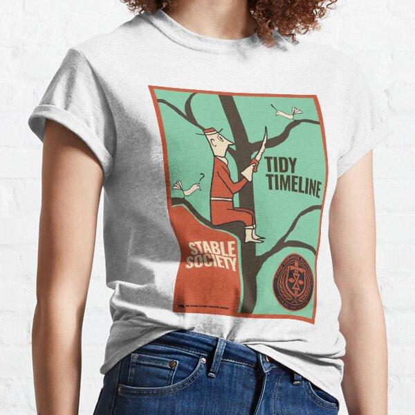 TVA Loki Series Tidy Timeline, Stable Society Classic T-Shirt