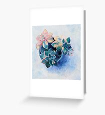 Pastel Succulents - an oil painting on canvas Greeting Card