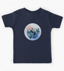 Pastel Succulents - an oil painting on canvas Kids Tee
