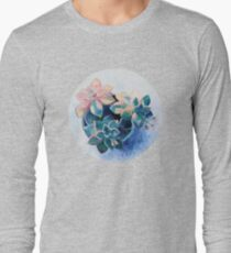 Pastel Succulents - an oil painting on canvas Long Sleeve T-Shirt