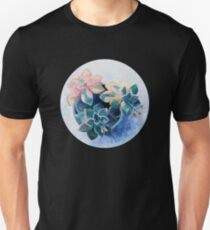Pastel Succulents - an oil painting on canvas T-Shirt