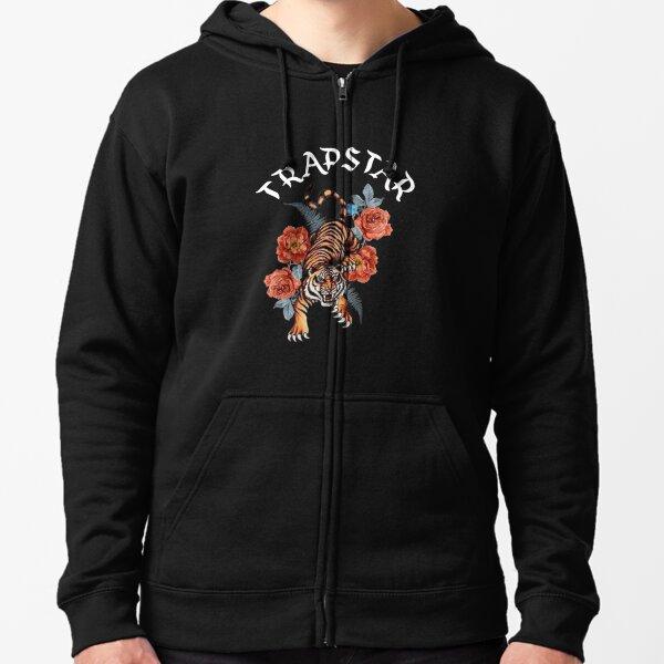 Diseño de Tigre Trapstar Sudadera con capucha y cremallera
