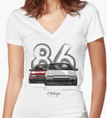 AE86 hachi roku Women's Fitted V-Neck T-Shirt