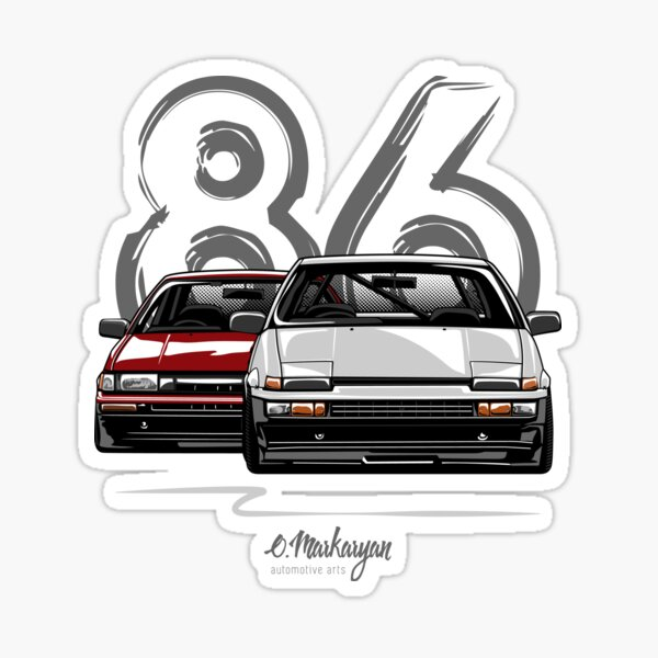 AE86 hachi roku Sticker