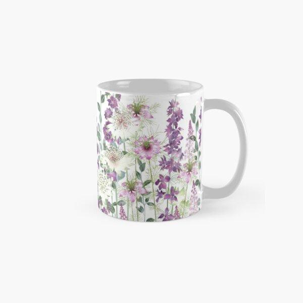 Dawn Flower Garden - Astrantia, Persian Jewels, Larkspur, Tiarella Classic Mug