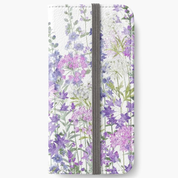 Flower Garden - Allium Eros, Larkspur, Ammi, Cluster Lilies, Catmint iPhone Wallet