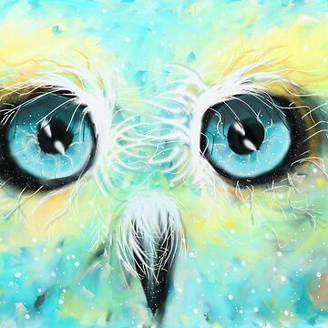 Owl Universe by paintingsofi