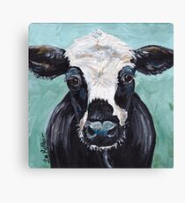 """Cow art, cow print """"Maybelline"""" Canvas Print"""
