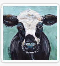 "Cow art, cow print ""Maybelline"" Sticker"