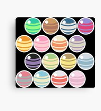 Pokemon Candy on black Canvas Print