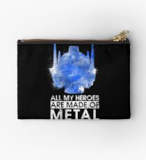 TF - All My Heroes Are Metal Zipper Pouch