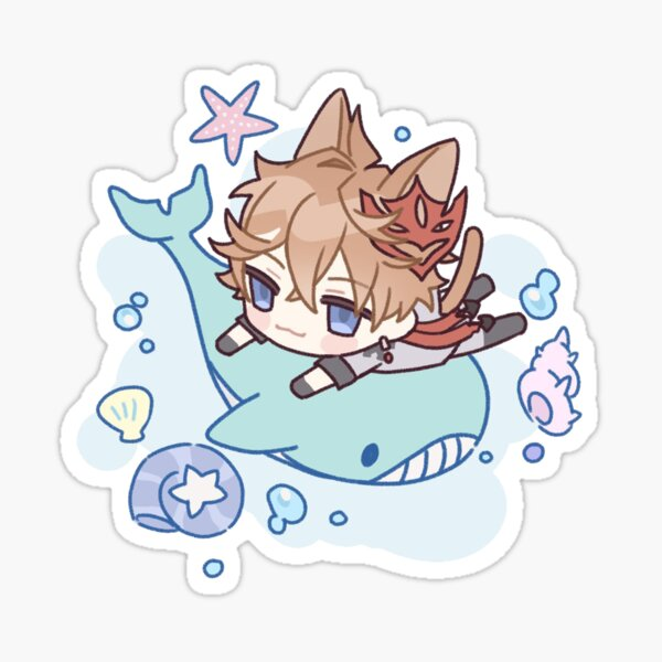 Genshin Impact Chibi Childe Sticker