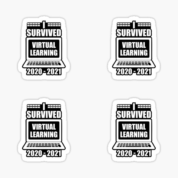 I Survived Virtual Learning 2020 - 2021 Sticker
