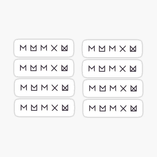 Monsta X Rectangles Sticker