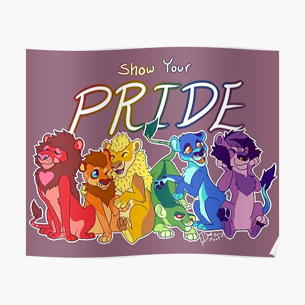 Pride Lions Poster