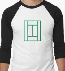 Tennis court Men's Baseball ¾ T-Shirt