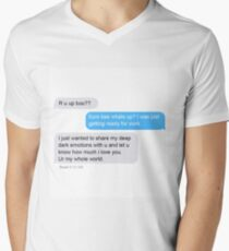 My Deepest Thoughts and Feelings Men's V-Neck T-Shirt