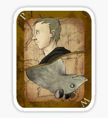 Peter Pettigrew Playing Card Sticker