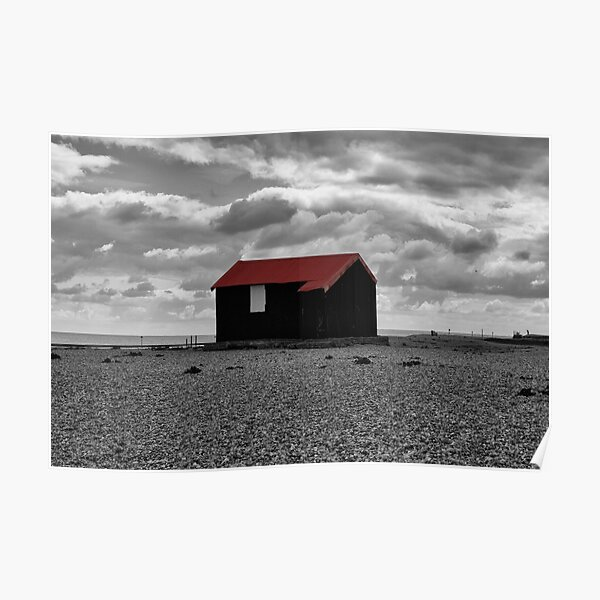 Red Roofed Shack Poster