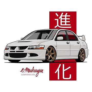 Lancer Evolution VIII (white) by OlegMarkaryan