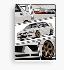 Lancer Evolution VIII (white) Canvas Print