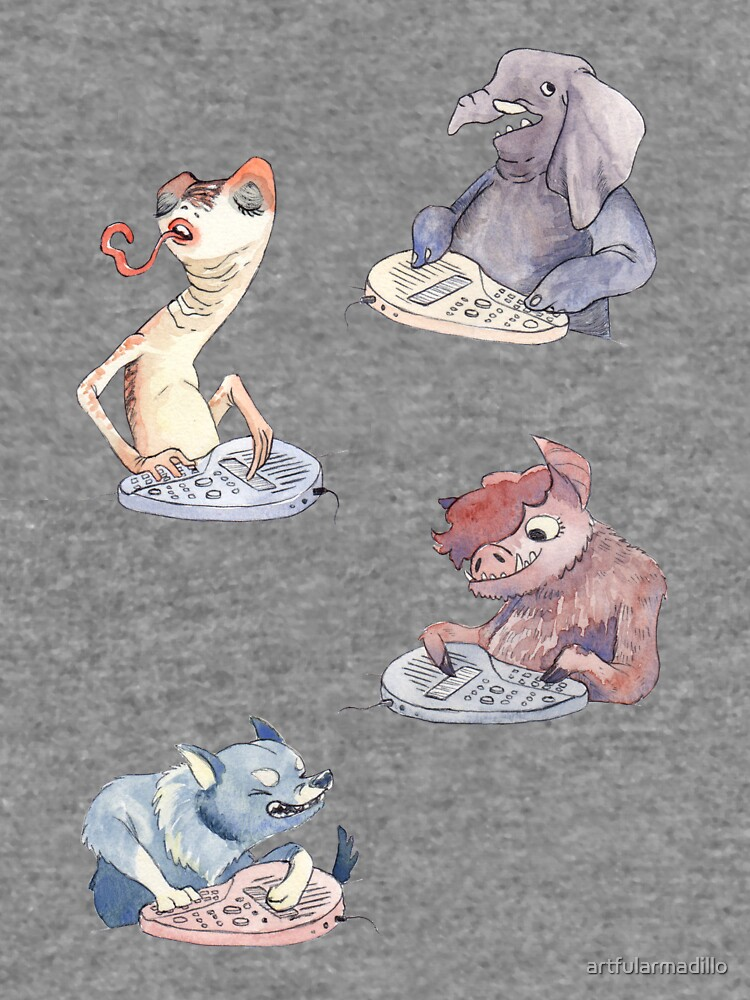 Omnichord Animals by artfularmadillo