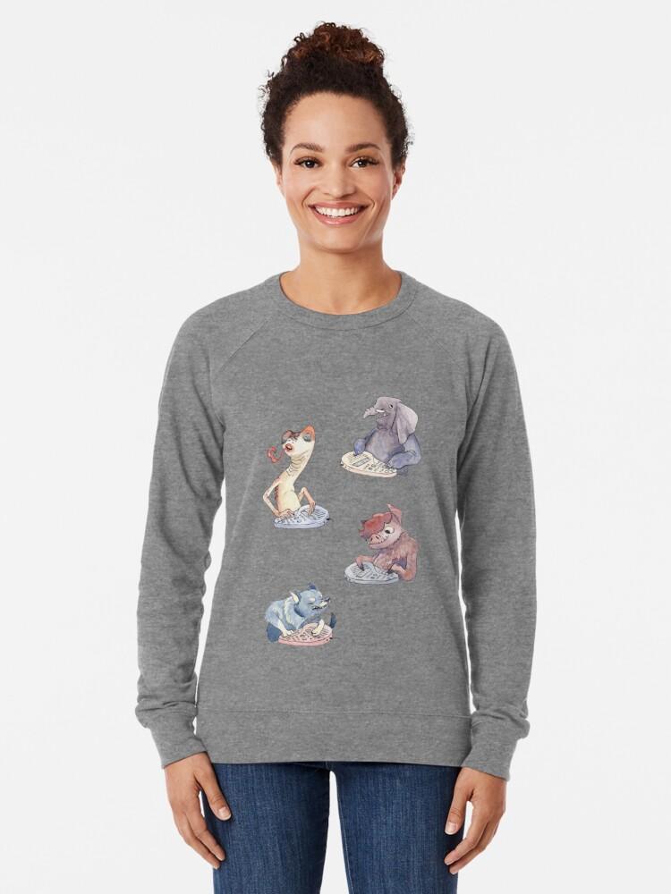 Alternate view of Omnichord Animals Lightweight Sweatshirt