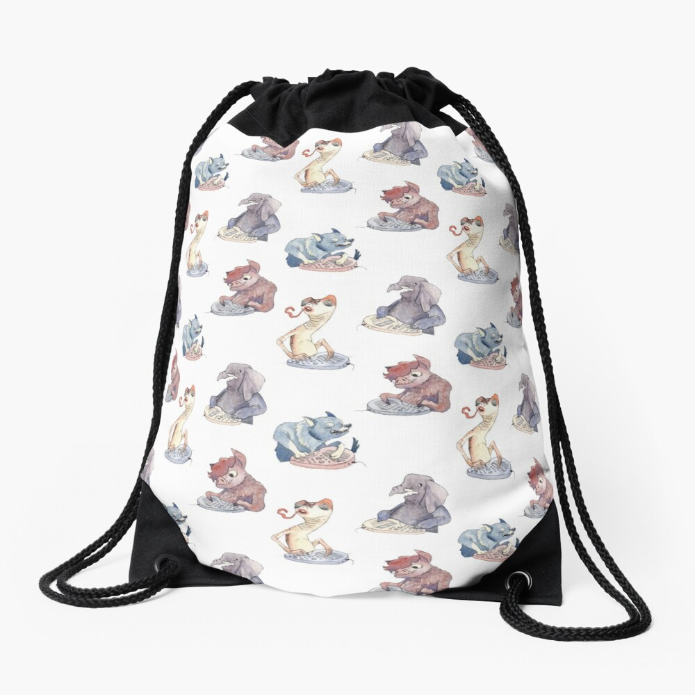 Omnichord Animals Drawstring Bag