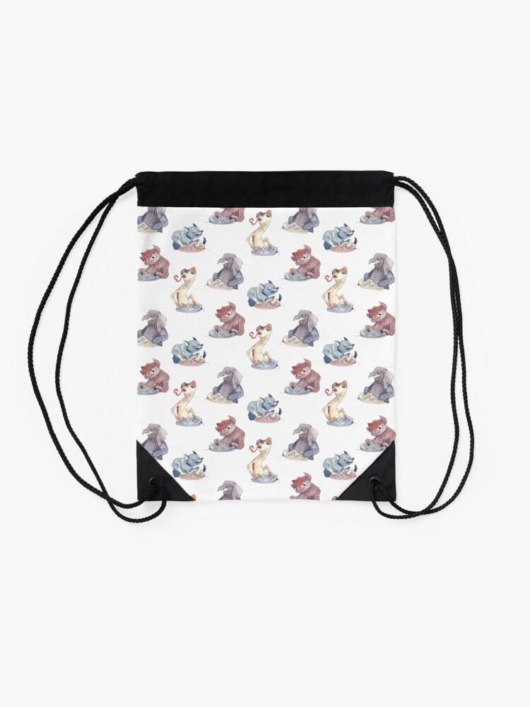 Alternate view of Omnichord Animals Drawstring Bag