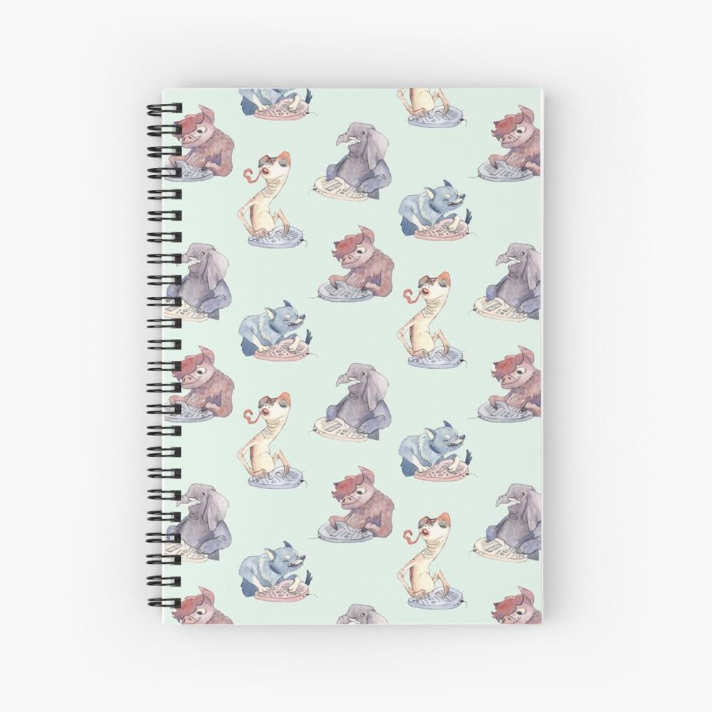 Omnichord Animals Spiral Notebook