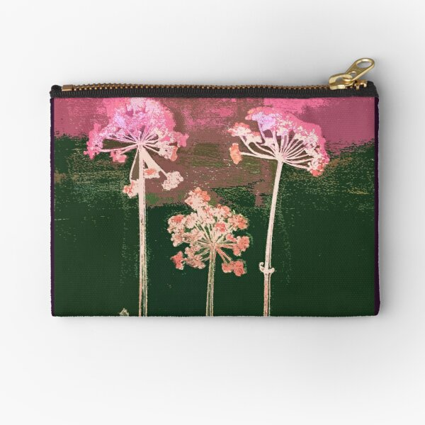 Cow Parsley: pink Zipper Pouch