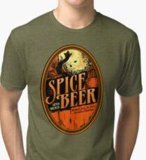 Spice Beer Label Tri-blend T-Shirt