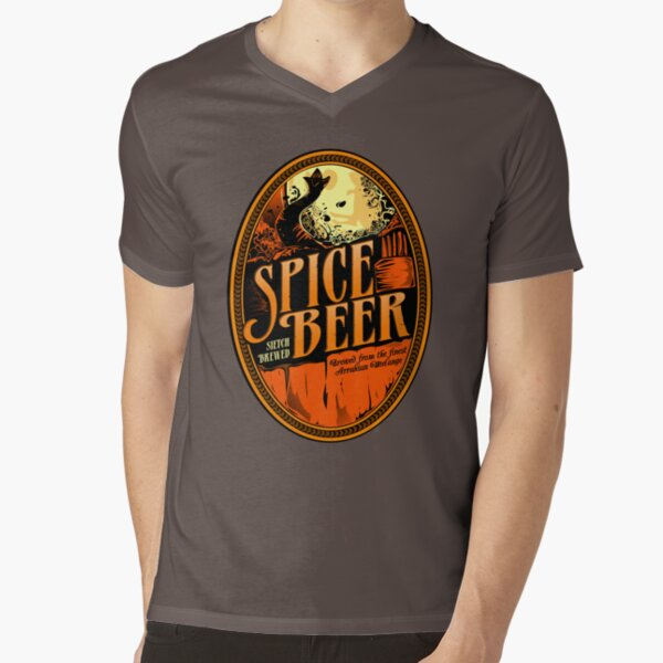 Spice Beer Label V-Neck T-Shirt