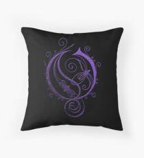 Opeth Logo Purple Throw Pillow