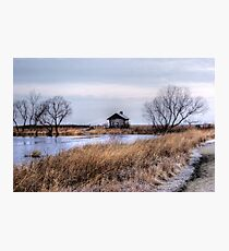Cabin in Winter Photographic Print