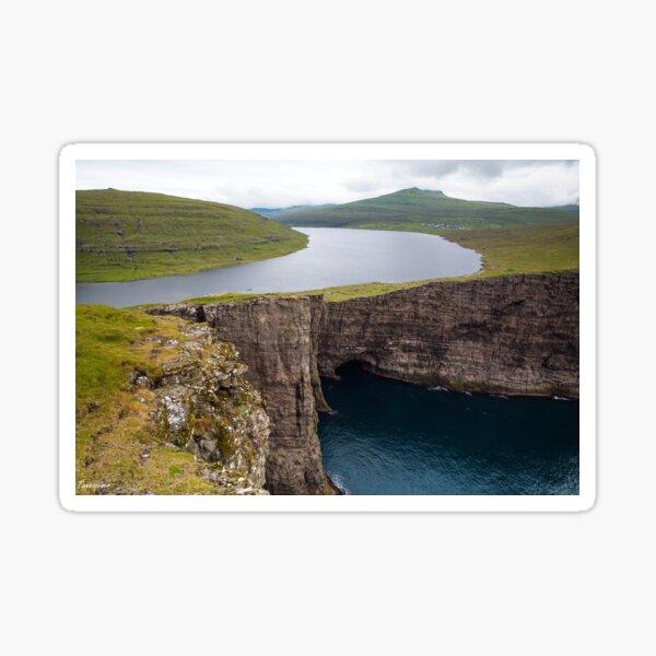 Midvagur on the Faroe Islands Sticker