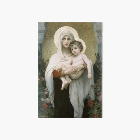 The Madonna of the Roses Art Board Print