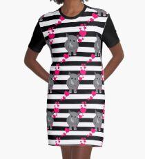 Baby Rhino Hearts Graphic T-Shirt Dress