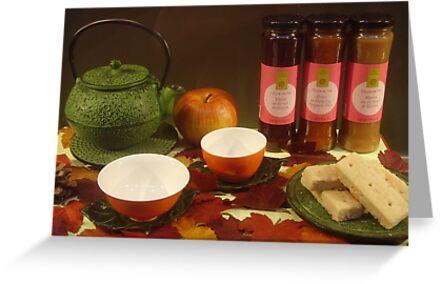 Tea, jam and shortbread by Caroline Clarkson
