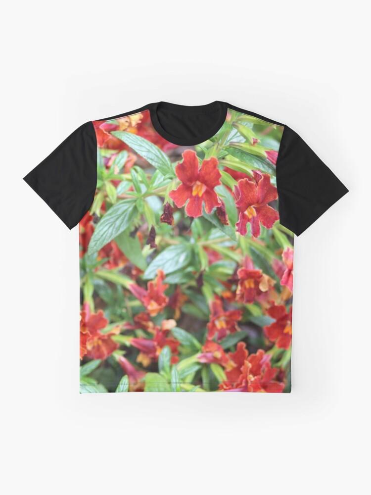 Alternative Ansicht von Rot Tropisch Grafik T-Shirt