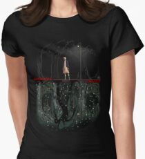 Upside down Women's Fitted T-Shirt