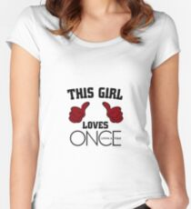 This Girl Loves Once Upon A Time Women's Fitted Scoop T-Shirt