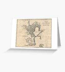 Vintage Map of Plymouth England (1765) Greeting Card