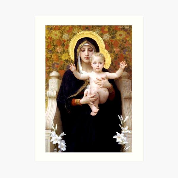 Madonna of the Lillies Art Print