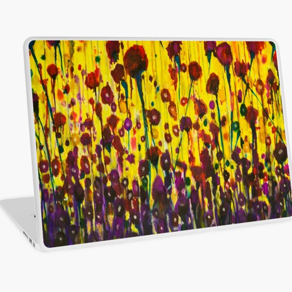 """""""Les Sauvages"""" Wildflower Field Laptop Skin"""