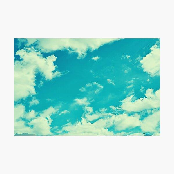 Blurred sky Photographic Print