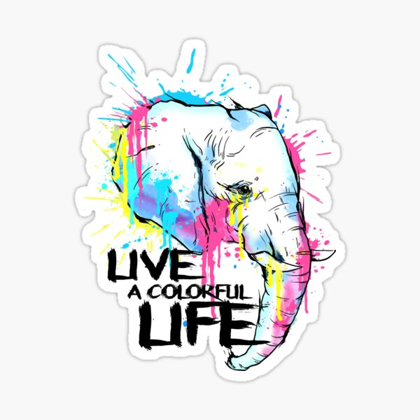Colorful Life Sticker