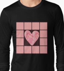 Pink Polka Dot Heart  Long Sleeve T-Shirt