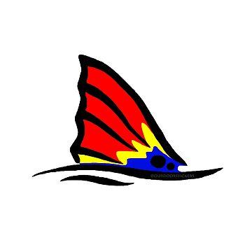 Cola de pez rojo colorido de Statepallets