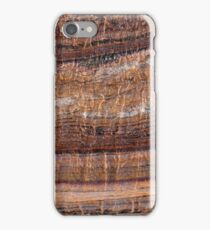 Surface of carbonate rock with weathering structures iPhone Case/Skin